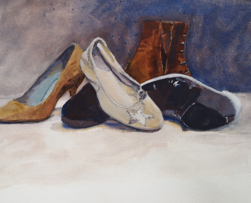 nature morte chaussures
